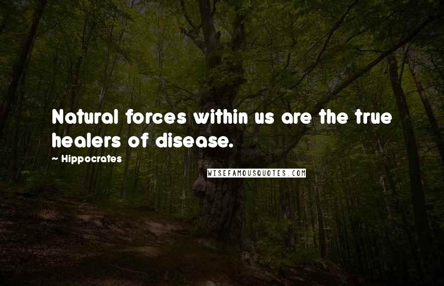Hippocrates quotes: Natural forces within us are the true healers of disease.