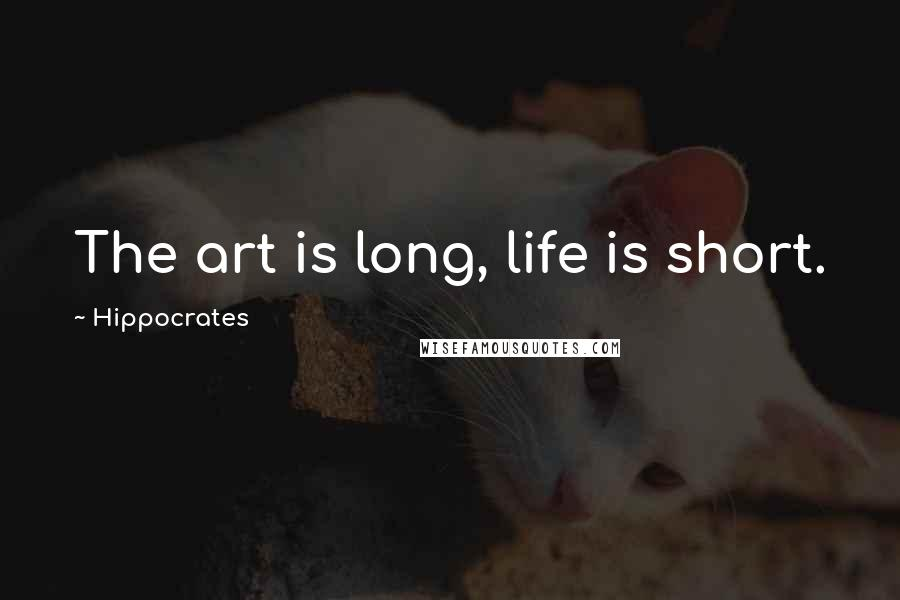 Hippocrates quotes: The art is long, life is short.