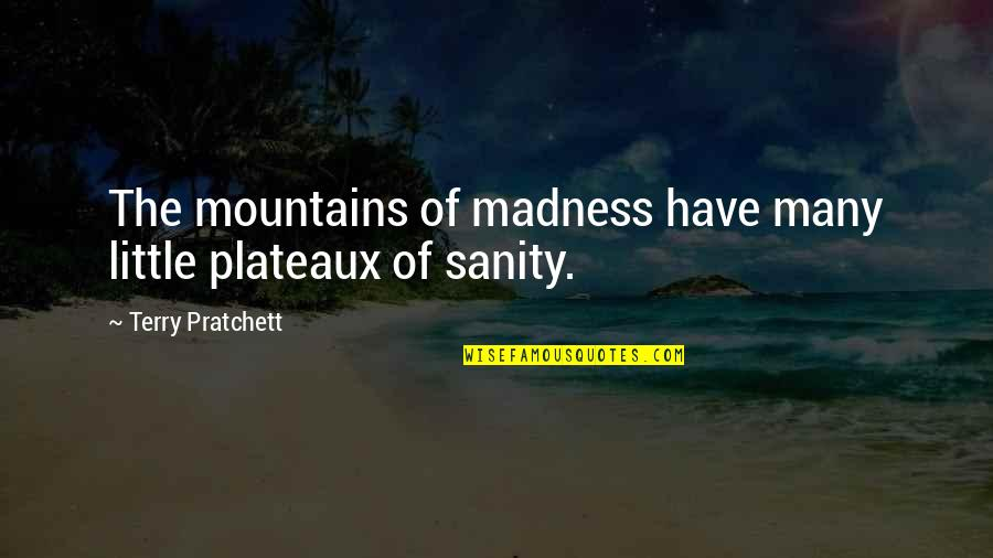 Hiromi Kawakami Quotes By Terry Pratchett: The mountains of madness have many little plateaux