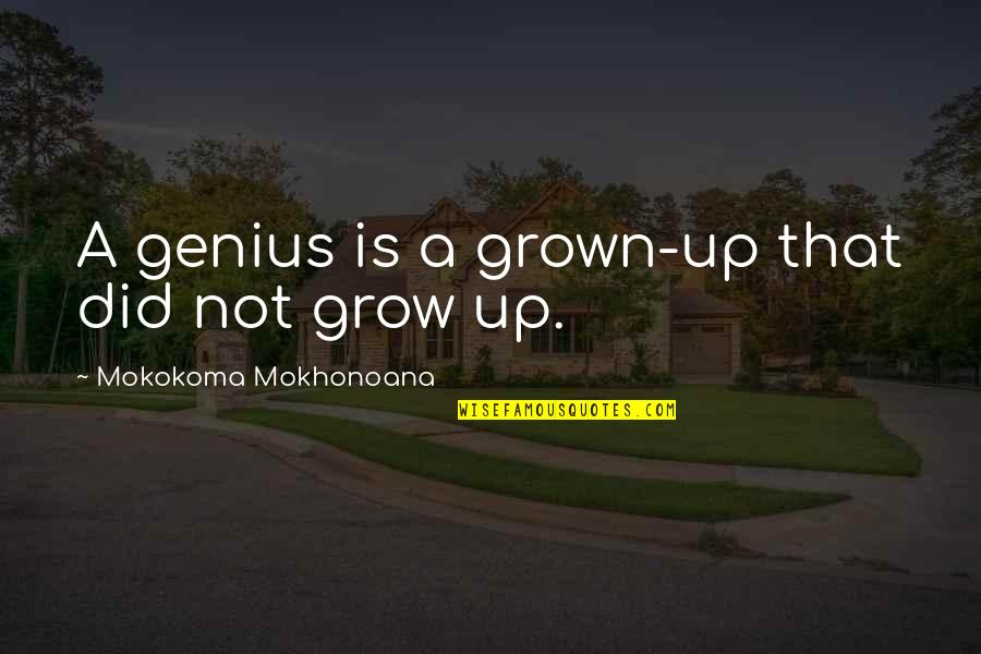 Historical Commodity Prices Quotes By Mokokoma Mokhonoana: A genius is a grown-up that did not