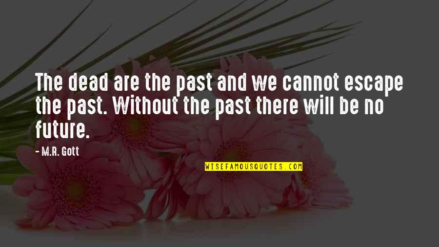 History And The Past Quotes By M.R. Gott: The dead are the past and we cannot