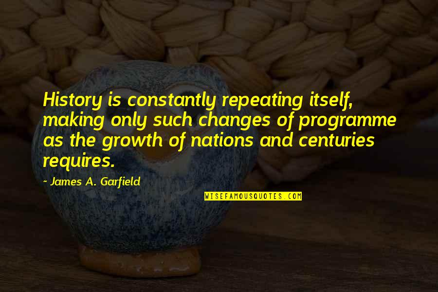 History Is Repeating Quotes By James A. Garfield: History is constantly repeating itself, making only such