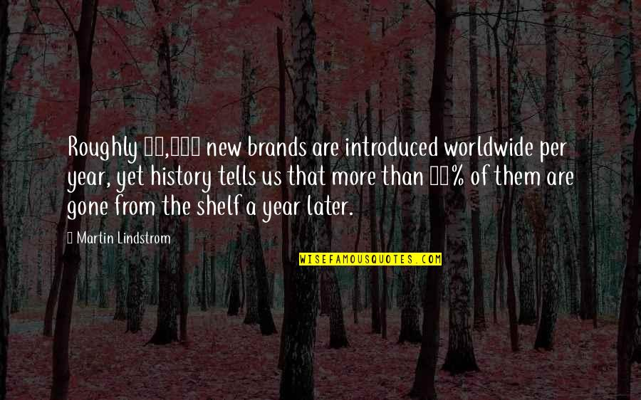History Tells Us Quotes By Martin Lindstrom: Roughly 21,000 new brands are introduced worldwide per