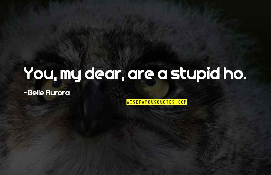 Ho Ho Quotes By Belle Aurora: You, my dear, are a stupid ho.