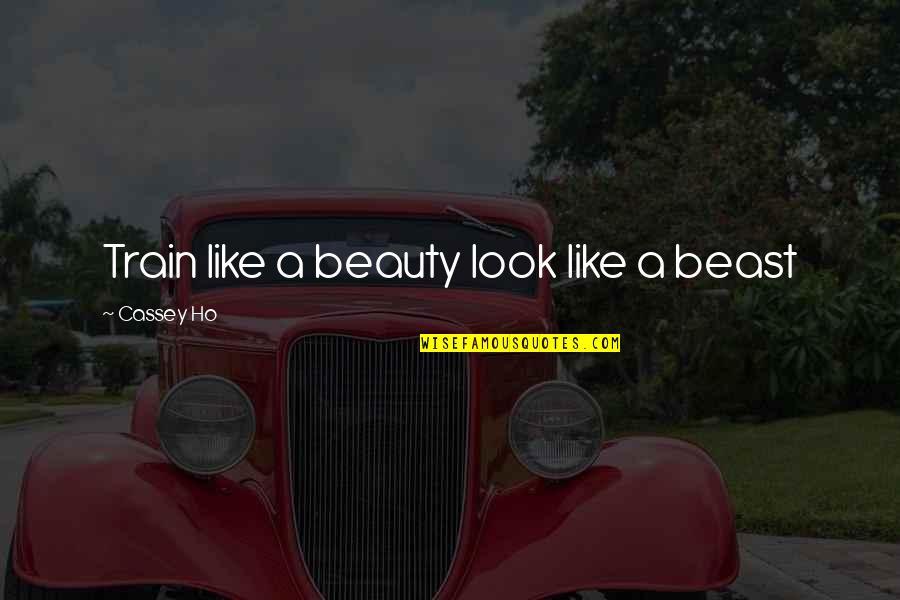 Ho Ho Quotes By Cassey Ho: Train like a beauty look like a beast