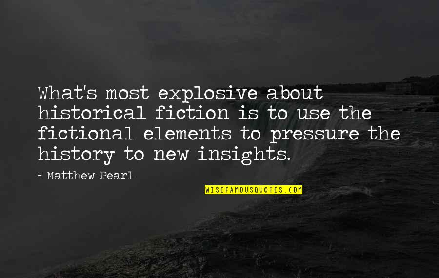 Hobbitses Quotes By Matthew Pearl: What's most explosive about historical fiction is to