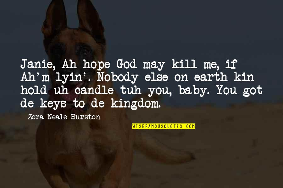 Hold On Me Quotes By Zora Neale Hurston: Janie, Ah hope God may kill me, if