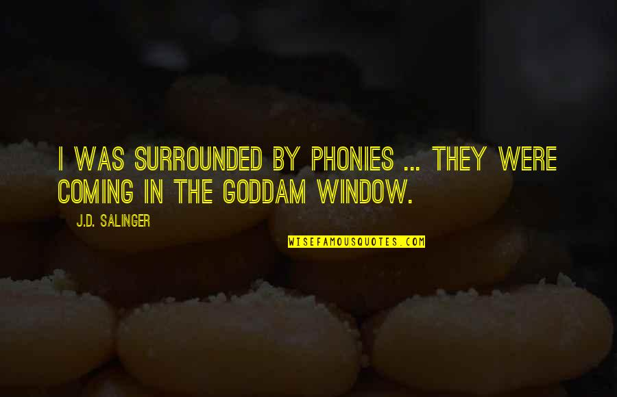 Holden Caulfield From Catcher In The Rye Quotes By J.D. Salinger: I was surrounded by phonies ... They were