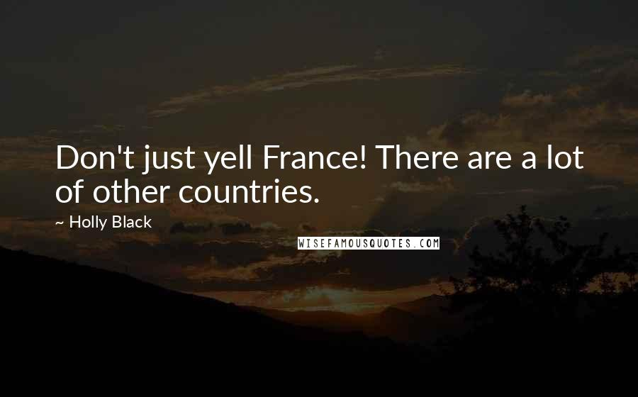 Holly Black quotes: Don't just yell France! There are a lot of other countries.