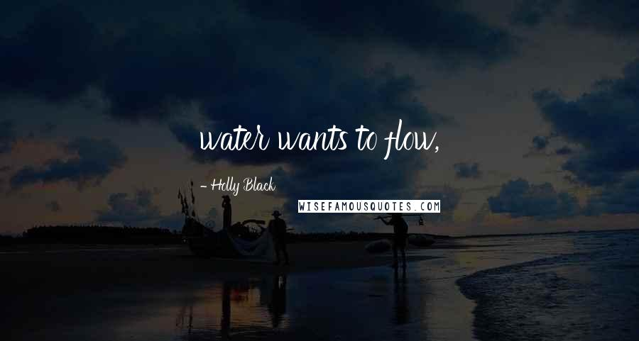Holly Black quotes: water wants to flow,