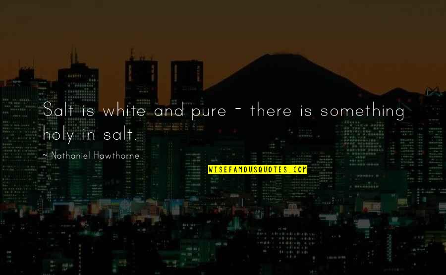 Holy Something Quotes By Nathaniel Hawthorne: Salt is white and pure - there is
