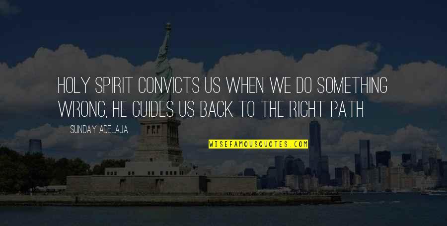 Holy Something Quotes By Sunday Adelaja: Holy Spirit convicts us when we do something