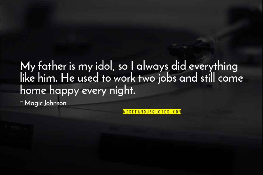 Home And Quotes By Magic Johnson: My father is my idol, so I always