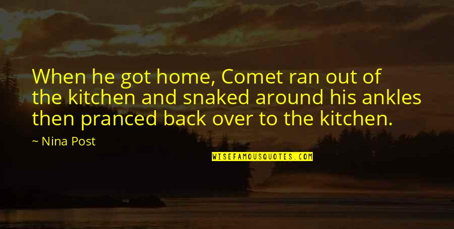 Home And Quotes By Nina Post: When he got home, Comet ran out of