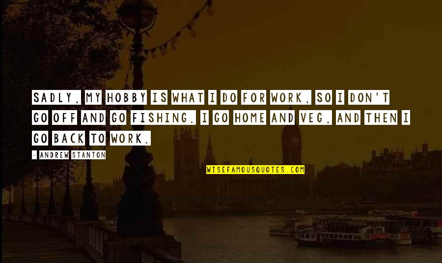 Home And Work Quotes By Andrew Stanton: Sadly, my hobby is what I do for
