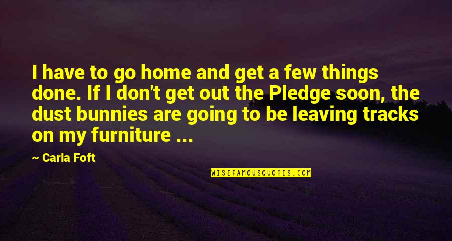 Home And Work Quotes By Carla Foft: I have to go home and get a