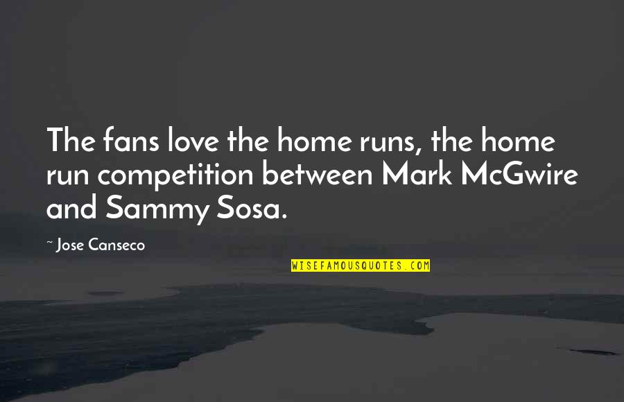 Home Runs Quotes By Jose Canseco: The fans love the home runs, the home