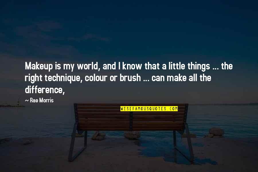 Homeliness Quotes By Rae Morris: Makeup is my world, and I know that