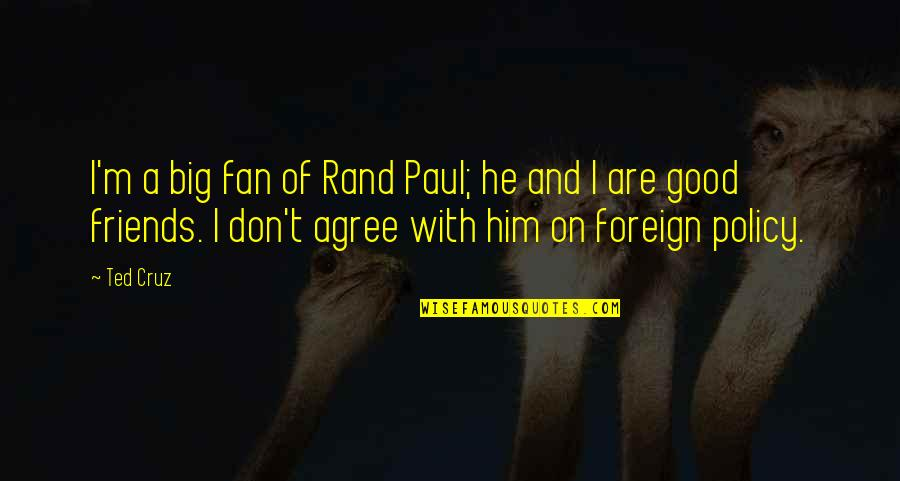 Homeliness Quotes By Ted Cruz: I'm a big fan of Rand Paul; he