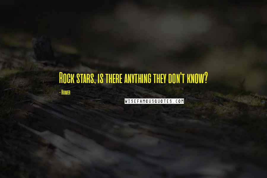 Homer quotes: Rock stars, is there anything they don't know?