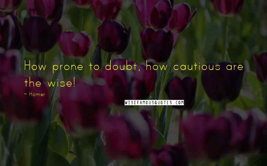 Homer quotes: How prone to doubt, how cautious are the wise!