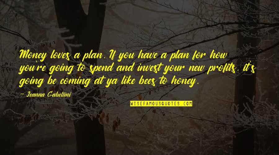 Honey Bees Quotes By Jeanna Gabellini: Money loves a plan. If you have a