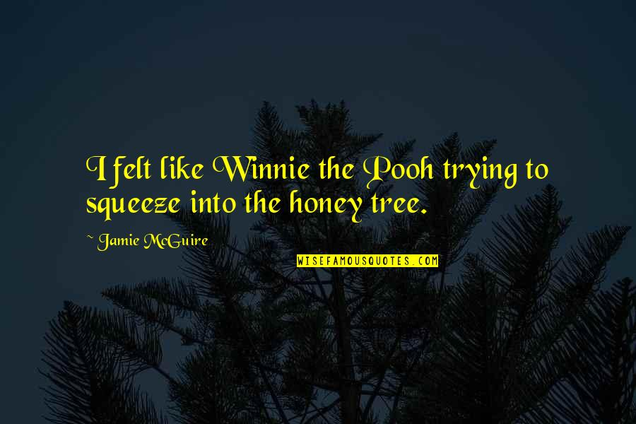 Honey Pooh Quotes By Jamie McGuire: I felt like Winnie the Pooh trying to