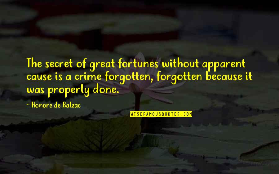 Honore De Balzac Quotes By Honore De Balzac: The secret of great fortunes without apparent cause
