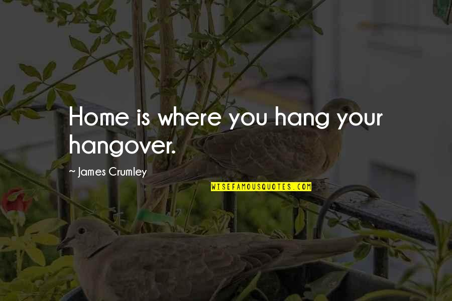 Hooped Quotes By James Crumley: Home is where you hang your hangover.