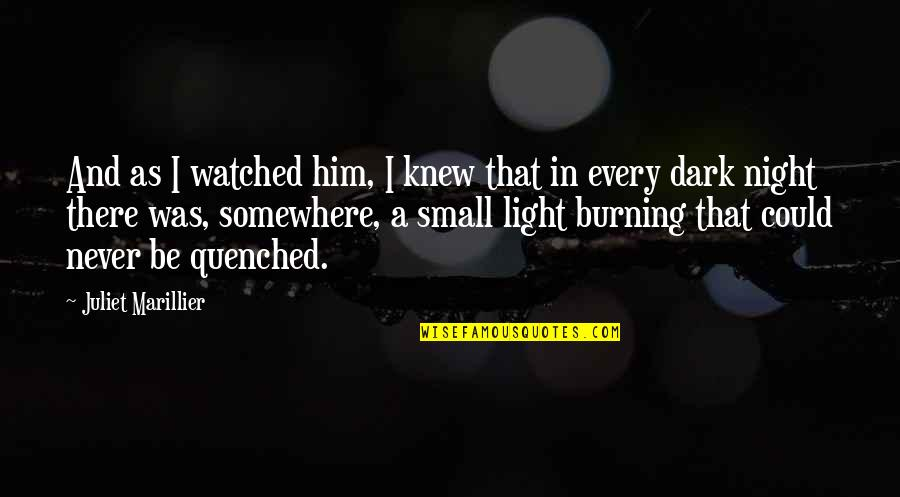 Hope And Light Quotes By Juliet Marillier: And as I watched him, I knew that