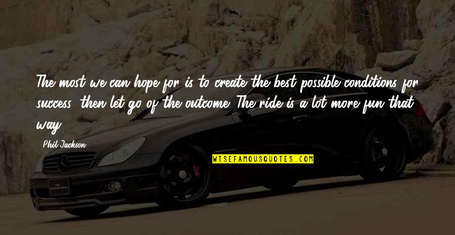 Hope For Success Quotes By Phil Jackson: The most we can hope for is to
