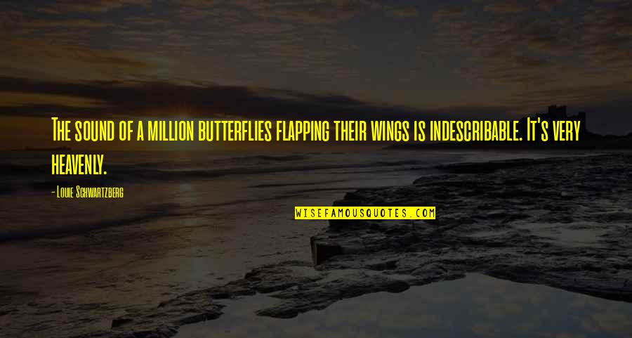 Hope In Bad Times Quotes By Louie Schwartzberg: The sound of a million butterflies flapping their