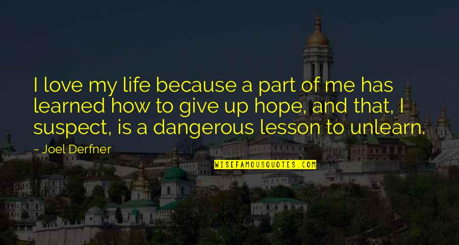 Hope Is Dangerous Quotes By Joel Derfner: I love my life because a part of