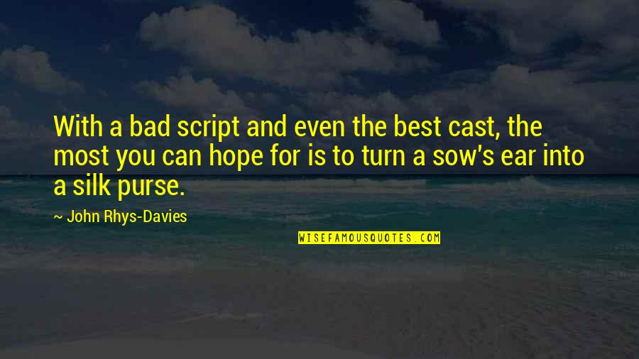 Hope The Best For You Quotes By John Rhys-Davies: With a bad script and even the best