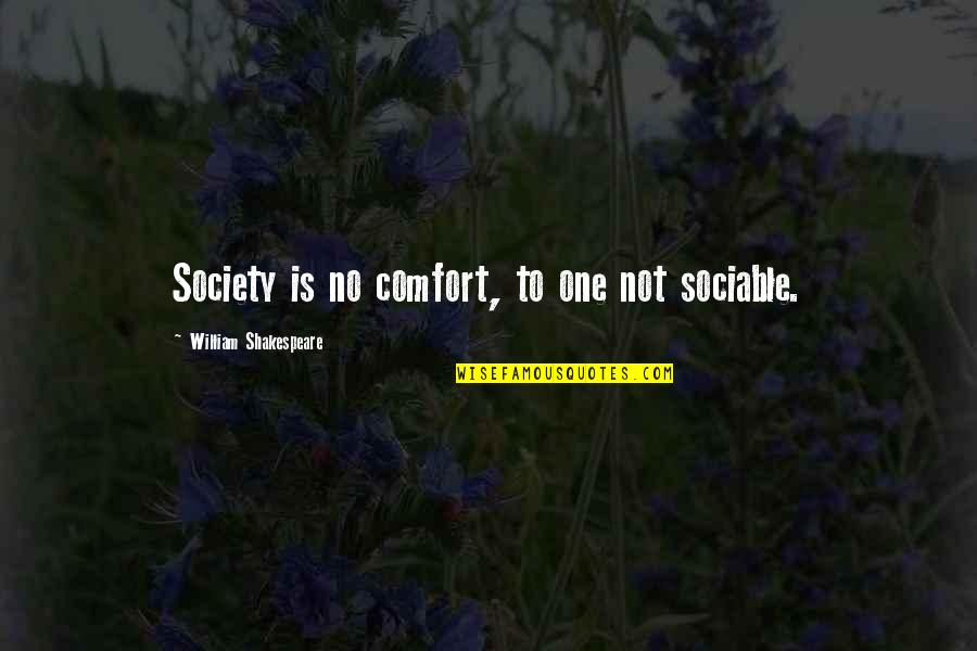 Hope You Having Good Day Quotes By William Shakespeare: Society is no comfort, to one not sociable.