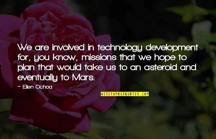 Hope You Know Quotes By Ellen Ochoa: We are involved in technology development for, you