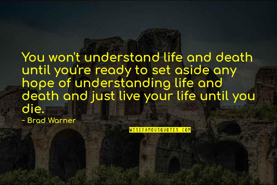 Hope You'll Understand Quotes By Brad Warner: You won't understand life and death until you're