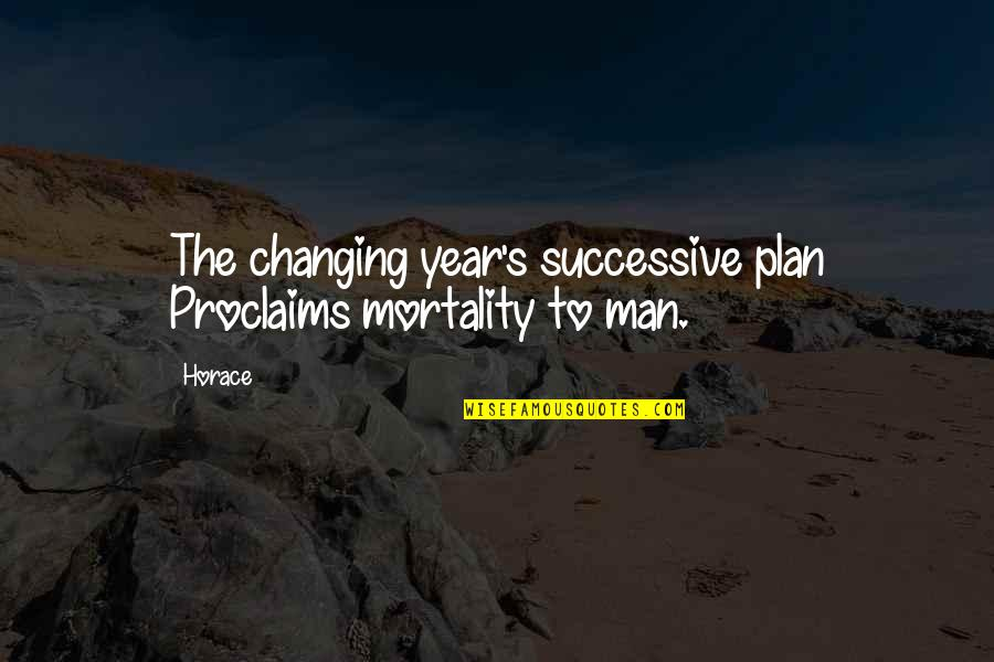 Horace's Quotes By Horace: The changing year's successive plan Proclaims mortality to