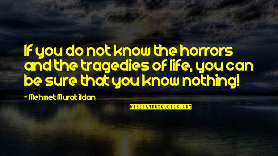 Horrors Quotes By Mehmet Murat Ildan: If you do not know the horrors and