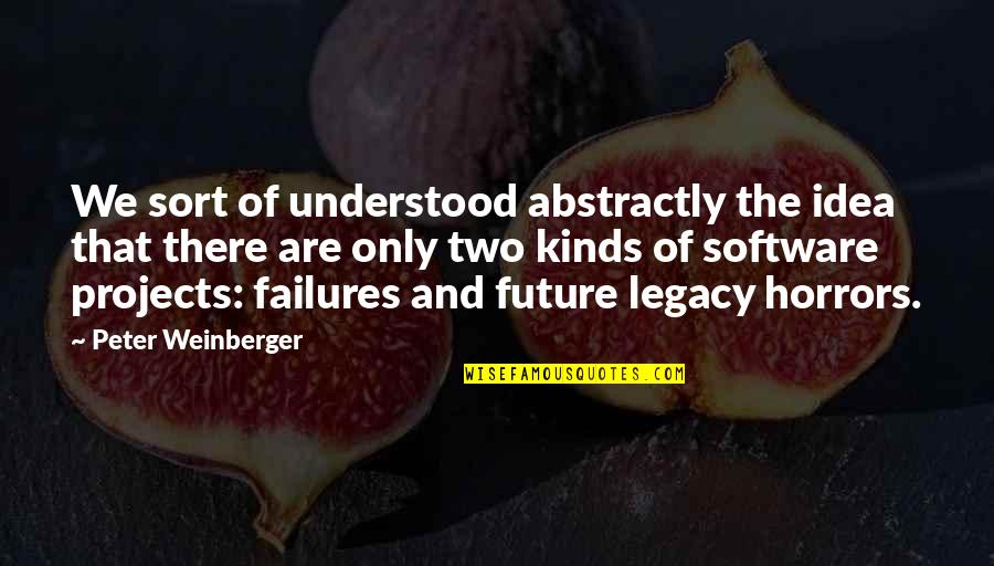 Horrors Quotes By Peter Weinberger: We sort of understood abstractly the idea that