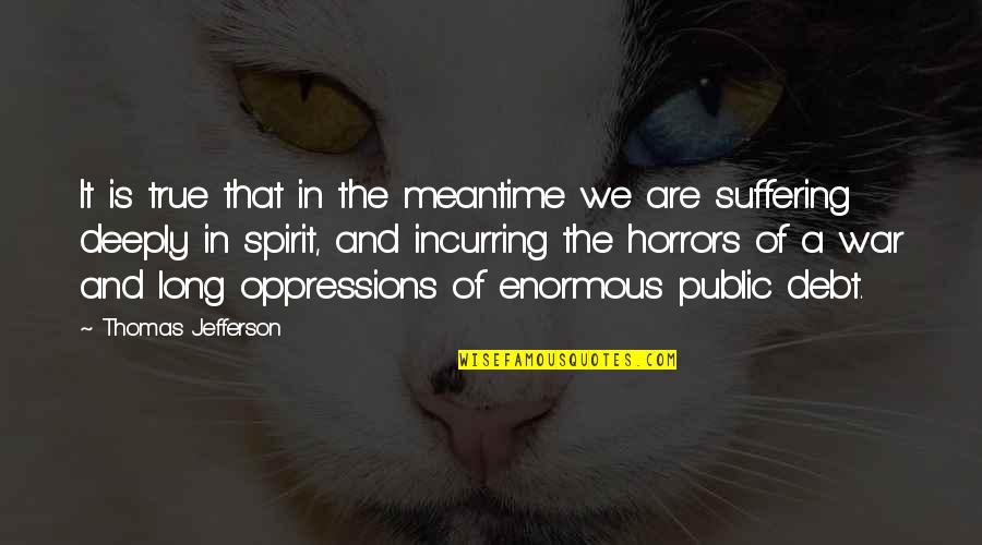 Horrors Quotes By Thomas Jefferson: It is true that in the meantime we