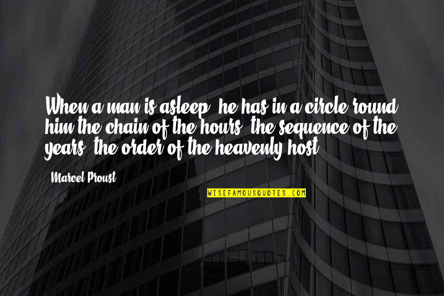 Host Quotes By Marcel Proust: When a man is asleep, he has in