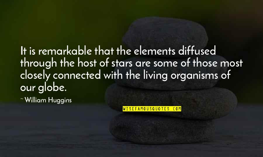 Host Quotes By William Huggins: It is remarkable that the elements diffused through