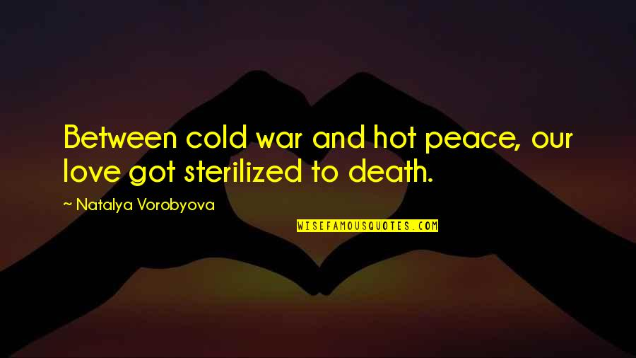 Hot Love Quotes By Natalya Vorobyova: Between cold war and hot peace, our love