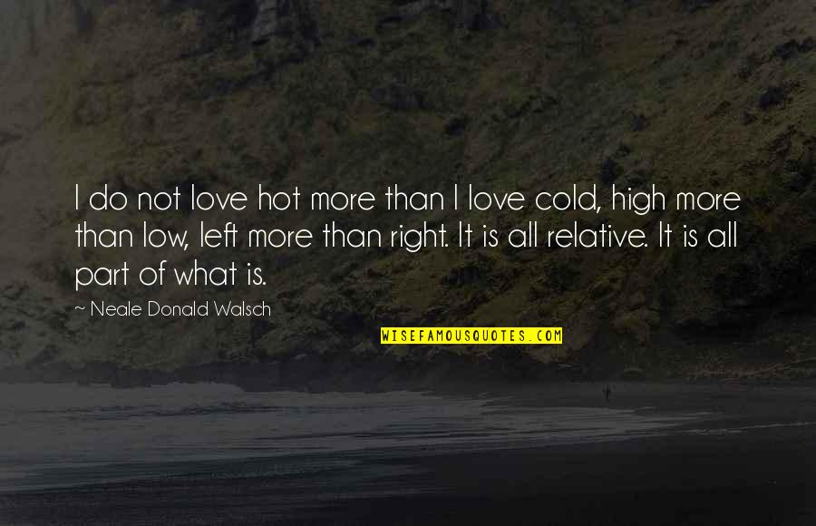 Hot Love Quotes By Neale Donald Walsch: I do not love hot more than I