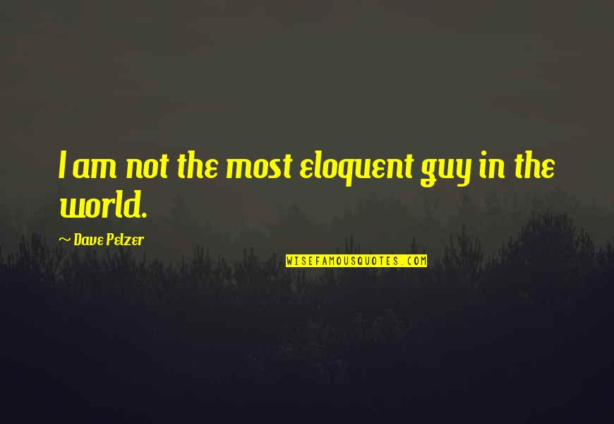Hot N Spicy Quotes By Dave Pelzer: I am not the most eloquent guy in
