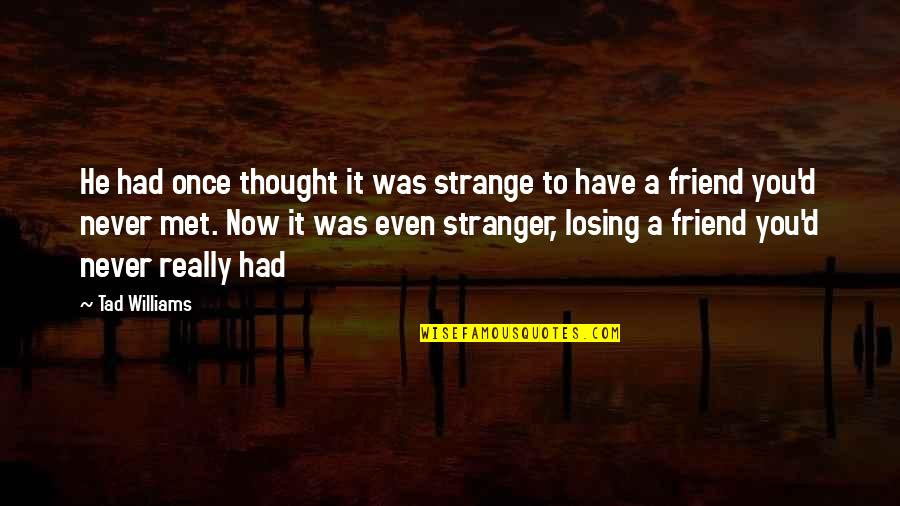 Hot N Spicy Quotes By Tad Williams: He had once thought it was strange to