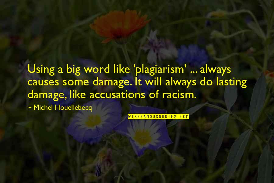 Houellebecq Quotes By Michel Houellebecq: Using a big word like 'plagiarism' ... always