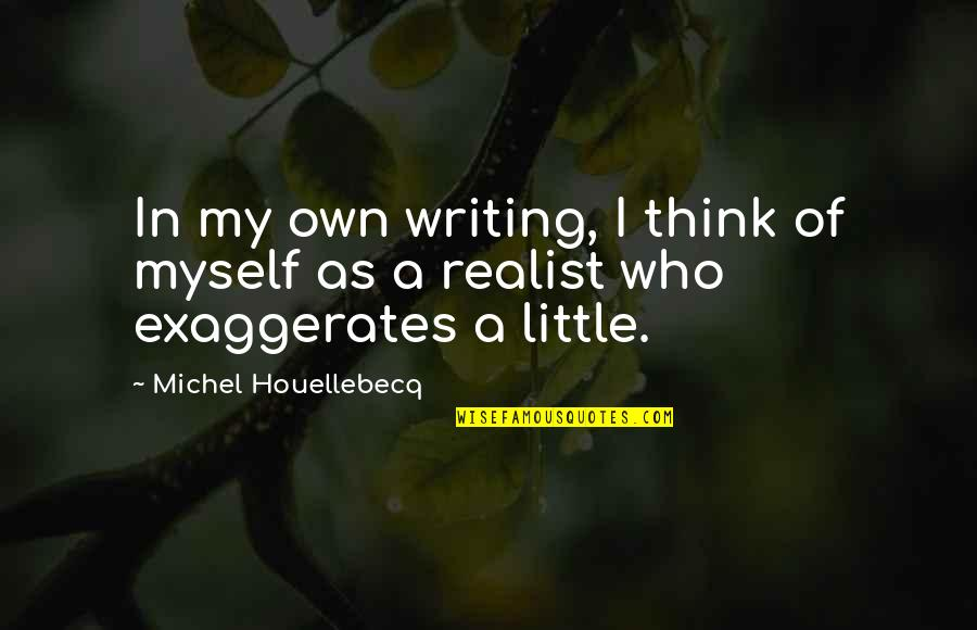 Houellebecq Quotes By Michel Houellebecq: In my own writing, I think of myself