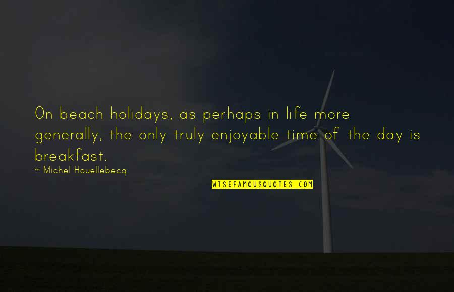 Houellebecq Quotes By Michel Houellebecq: On beach holidays, as perhaps in life more